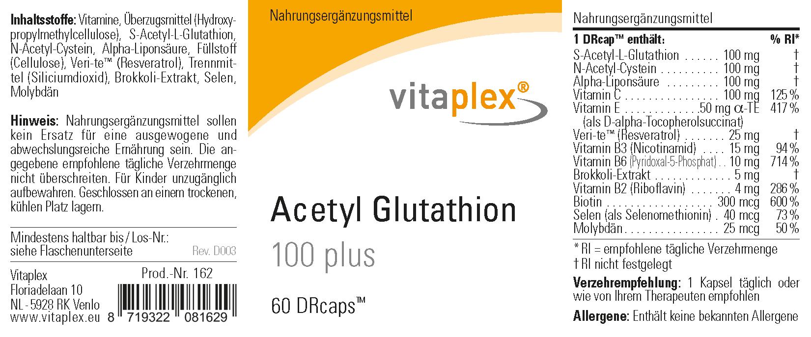 Acetyl Glutathion 100 plus